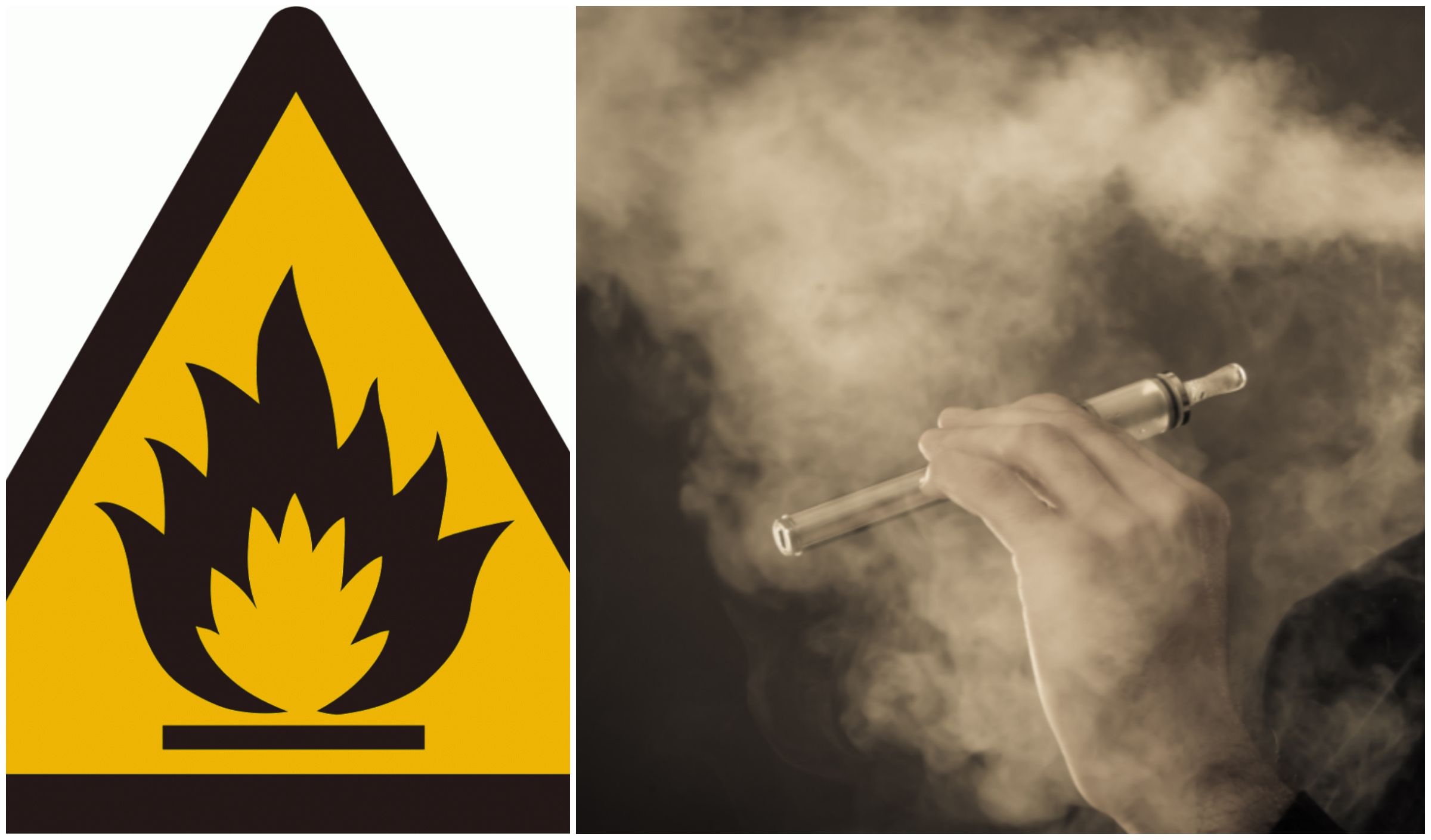What are the risks of explosion for e-cigarettes?